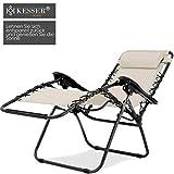 Sonnenliege Liegestuhl mit Getränkehalter Verstellbar Rückenlehne abnehmbares Kopfkissen Kopfpolster - 3