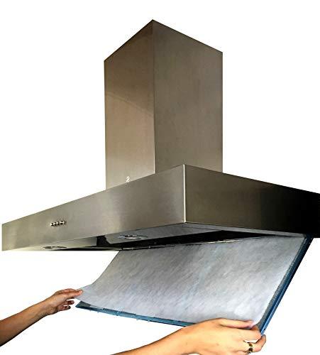Filtro Cappa Cucina Universale LUNGA DURATA. 50x90 centimetri. Ritagliabile a Misura In Fibra...