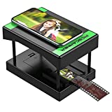 Rybozen Mobile Film and Slide Scanner, Lets You Scan and Play with Old 35mm Films & Slides Using Your Smartphone Camera, Fun Toys and Gifts with LED Backlight, Rugged Plastic Folding Scanner