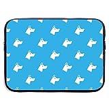 Doberman Dog - Funda Azul para portátil, Impermeable y Plegable, maletín de Neopreno, Suave, para Tableta, de Viaje, 13 Pulgadas