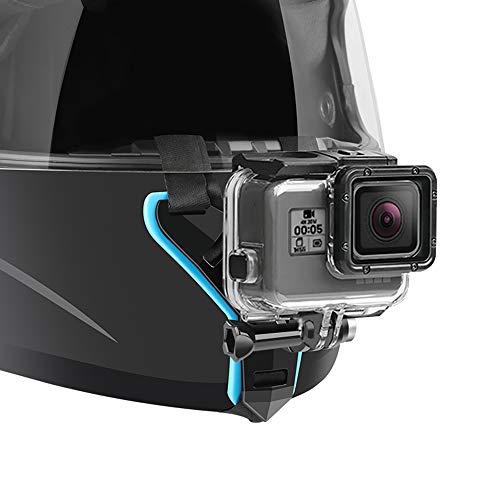 Supporto per casco da moto compatible with GoPro Hero 7, (2018), 6 5 4 3, Hero Black, Session, Xiaomi Yi, SJCAM