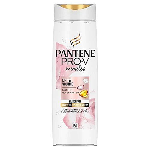 Pantene Pro-V Miracles Lift & Volume Silikonfreies Shampoo, 250ml, Biotin + Rosenwasser, Beauty, Haarpflege, Shampoo Damen, Shampoo Ohne Silikone, Volumen, Dickes Haar, Langes Haar