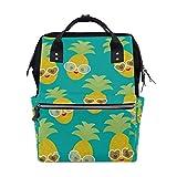 Bolsa de pañales para bebé de gran capacidad, gafas de sol de piña y frutas exóticas, mochila de viaje multifunción duradera para mamá, niñas, enfermeras