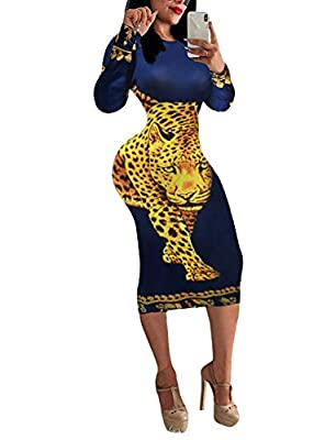 Long Sleeve Bodycon Dresses for Women - CLASSIC & VOGUE - Bodycon pencil dress design with unique poke queen patterns makes the clubwear dresses for women stylish, fashionable and adorable. Long Sleeve Bodycon Dresses for Women - NICE FABRIC - Polyes...