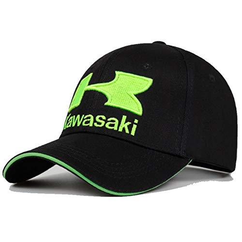 Cappelli da Baseball Estivi Cappelli alla Moda da Donna Cappelli da Strada Scamosciati Hip-Hop Regolabili Cappelli da Uomo Kawasaki, Neri