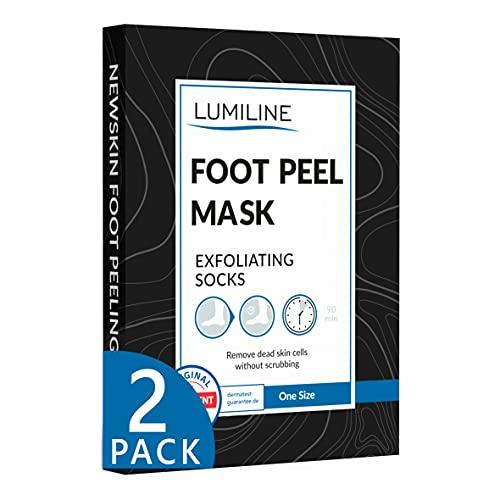 Maschera piedi esfoliante per uomo baby foot peeling piedi calzini esfolianti callus peeling foot mask, 2 paia (fino alla taglia 47)