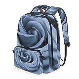 Mochila bandolera desmontable azul rosa para hombres y mujeres, para viajes, universidad, escuela, bolso casual