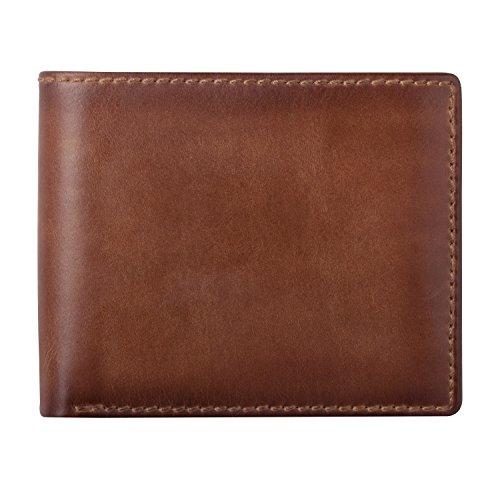 HOJ Co. Men's Bifold Wallet With Flip ID | Extra Capacity...