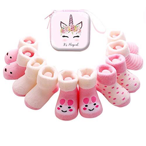 Sweetneed 5 Pares Calcetines Recien Nacido niño Calcetines