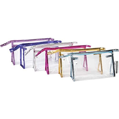 Organizzatore di trucco trasparente per borsa da toilette da viaggio portatile Sea Team 6 pezzi...