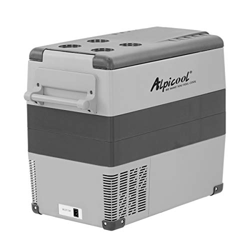 Alpicool CF55 55 Litri Frigoriferi Portatile Elettrico Frigorifero per Auto Congelatore 12V 24V DC/AC Mini Frigo per Viaggio, Picnic, Campeggio Uso Esterno, da -20 a 20