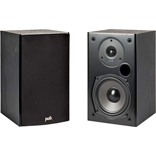 Polk Audio T15 100 Watt Home Theater Bookshelf Speakers (Pair) | Dolby and DTS Surround | Mountable in Wall