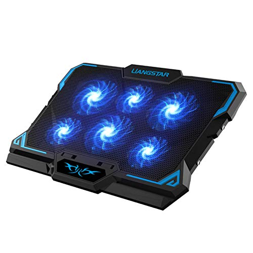 Laptop Cooling Pad, Laptop Cooler with 6 Quiet Led...