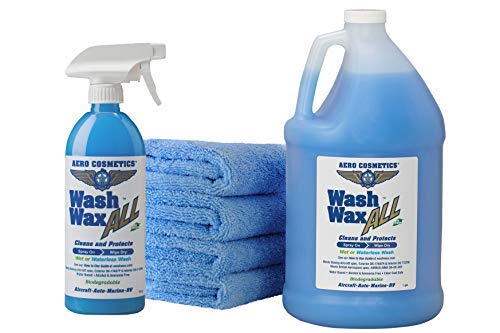 Wet or Waterless Car Wash Wax Kit 144 Ounces. Aircraft...
