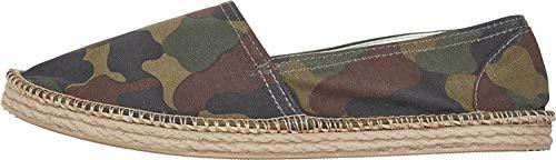 Urban Classics Canvas Slipper, Sandalias con cua Tipo Alpargatas Unisex Adulto, Diseño de Camuflaje Multicolor, 39 EU