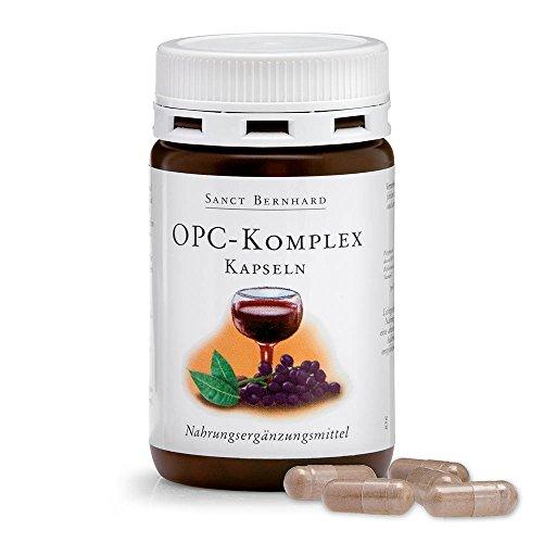 Sanct Bernhard OPC-Komplex-Kapseln mit Polyphenolen aus Traubenkernextrakt, Bioflavonoiden, Vitamin C 90 Kapseln