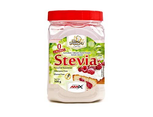 AMIX - Stevia Mr. Poppers - 500 Gr - Endulzante Natural - Pr