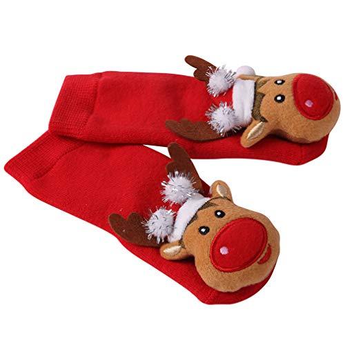 Toddler Christmas Socks, HAPYCEO Baby Boy Girl Thickened...