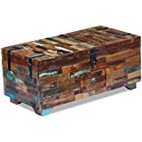 Canditree Antique Storage Chest Wood, Coffee Table with Storage 31.5'x15.7'x13.8'