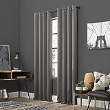Sun Zero Soho 2-Pack Energy Efficient Blackout Grommet Curtain Panel Pair, 54' x 96', Gray