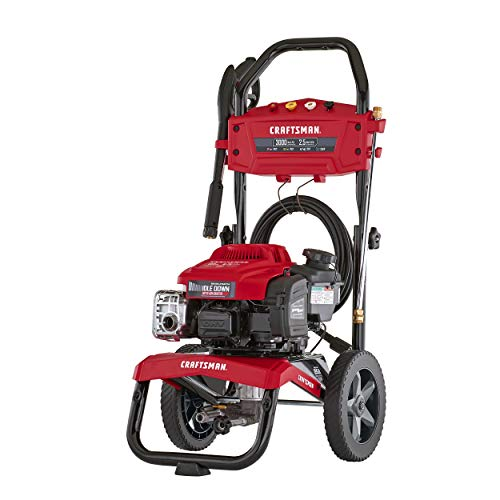 CRAFTSMAN 3000 MAX PSI at 2.1 GPM Gas Pressure Washer with ReadyStart, Idle Down Technology, 25-Foot Hose, and 4 Quick-Connect Nozzles, Powered by Briggs & Stratton