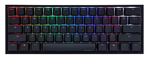Akko X Ducky One 2 - Mini RGB Cherry MX Switch PBT Keycap 60% RGB Mechanical Gaming Keyboard (Cherry MX Red)