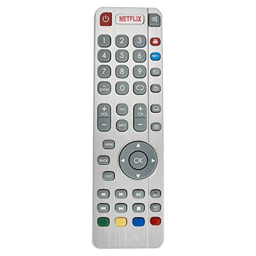 VINABTY SHWRMC0116 Fernbedienung Ersatz für Sharp Aquos LC-49CUG8052K LC49CUG8052K UHD 4K LED Smart 3D TV mit Netflix YouTube Buttons