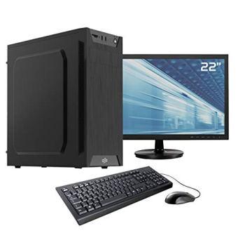 Sedatech Pack PC Gamer Casual AMD A6-7480 2X 3.5Ghz, Radeon R5 Series, 8 Go RAM DDR3, 1To HDD, WiFi, CardReader. Unité Centrale, Moniteur, Clavier/Souris, Win 10