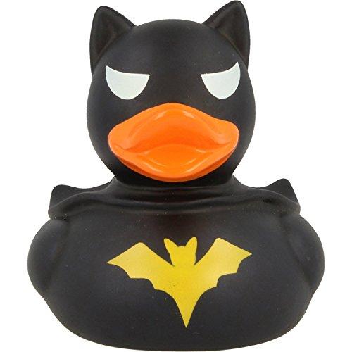 Lilalu Badeente Gummiente Schwimmente Sammeln Ente Halloween Superheld Krone: Art: Dark Duck- Ente