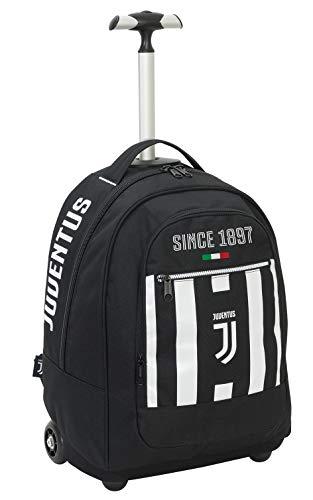 Seven Big Trolley Juventus Coaches, 29 Lt, Spallacci a Scomparsa, Bianco & Nero, 48 cm