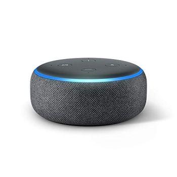 Echo Dot (3ème génération), Enceinte connectée avec Alexa, Tissu anthracite
