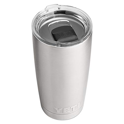 YETI Rambler 20 oz Tumbler, Stainless Steel, Vacuum Insulated with MagSlider Lid, Stainless