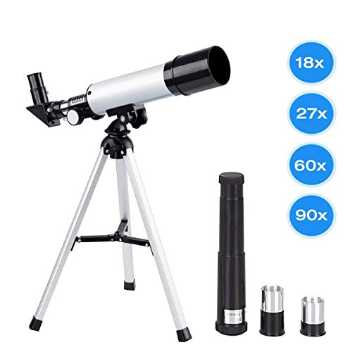 Kids Telescopes, Manfore 90X Science Astronomical Telescope with Tripod and 2 Magnification Eyepieces, Kids Science Telescope Educational Learning Toy for Sky Star Gazing & Birds Watching