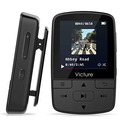 Victure Lettore MP3 Bluetooth con Clip 8GB MP3 Player con Radio FM, MP3 Player per Sport e Corsa,...