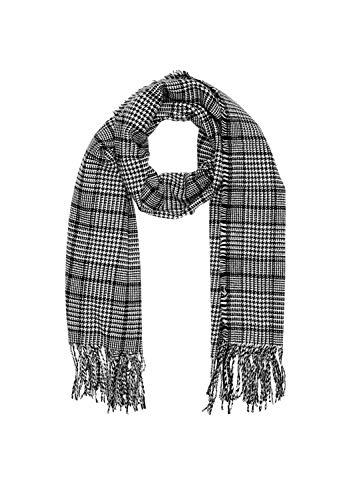 s.Oliver Damen 39.910.91.5070 Schal, Grau (Grey/Black Check 99n2), One Size (Herstellergröße: 1)