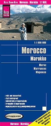 Marruecos, mapa impermeable de carreteras. Escala 1:1.000.000 impermeable. Reise Know-How.