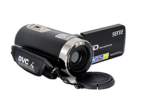 SEREE HDV-301S FHD 1080P Digital Video Camcorder Wide Angle Macro Fisheye Shooting 24MP 3 Inch...