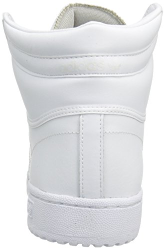 adidas Originals Men's Top Ten Hi Basketball Shoe, White/White/White, 7 M US