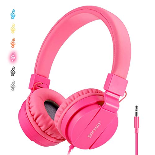 ONTA®Pliable on Ear Casque Audio Enfant,Réglable Léger Écouteurs pour Enfants pour Ttéléphonesphones/iPhone/Tablettes/iPad/PC/MP3/MP4