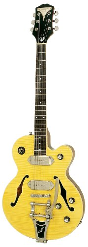 Epiphone WILDKAT Semi-Hollowbody Electric Guitar with Bigsby Tremelo, Natural
