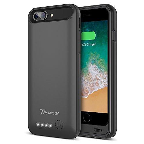 iPhone 8 Plus/7 Plus Battery Case, Trianium Atomic Pro 4200mAh Extended 8 Plus Battery Portable Charger for iPhone 7 Plus,8Plus (5.5)[Black] Power Juice Charging Case Pack [Apple Certified Part]