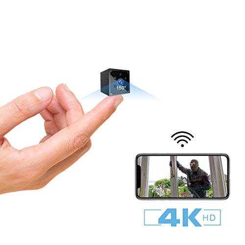 Telecamera Nascosta,AOBO 4K HD Mini Telecamera Spia Wifi Portatile Microcamera con Visione Notturna...