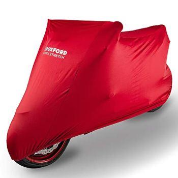 OXFORD Protex - Funda de Ajuste elástico para Motocicleta, para Interior, Color Rojo, tamaño Grande