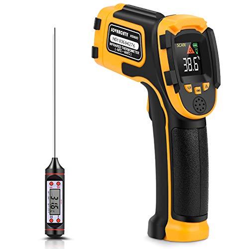Thermomètre Infrarouge Pistolet de Température Laser Numérique Sans Contact -58°F~1112°F (-50°C~600°C) Emissivité Réglable - Thermomètre Non Frontal Pour Cuisson/BBQ/Congélateur - Thermomètre Viande