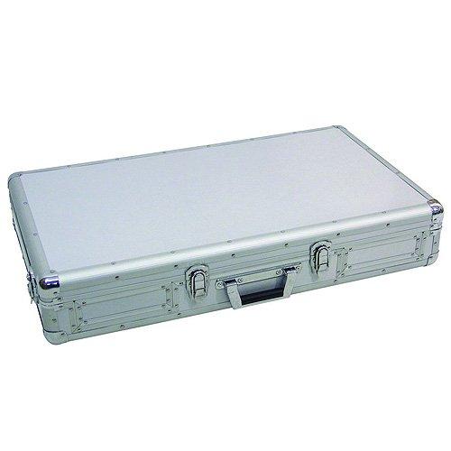 Omnitronic Professional DJ Flight Case in Alluminio. Per due DJ CD player e una console da 10'mix DJ. Dimensioni 840x470x155 mm.