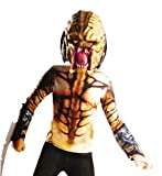 Rubie's Teen Upgrade Predator Costume Shirt with Blade & Mask Cream