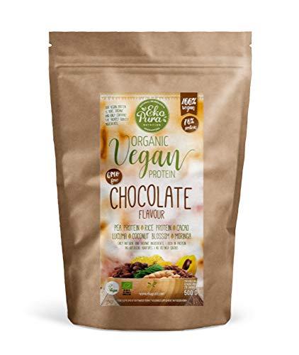 Natural Vegan Protein - Chocolat - 76% Protein - Ingrédients bio, Sans aditifs - 500g