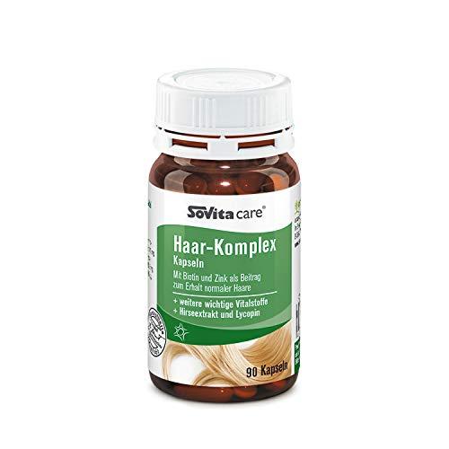 Haar-Komplex Kapseln | Mit Biotin und Zink als Beitrag zum Erhalt normaler Haare | Nahrungsergänzungsmittel | 90 Kapseln