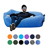 Inflatable Lounger Portable Hammock Air Sofa with Water Proof,Anti-Air Leaking Design,Ideal Inflatable Couch and Beach Chair Camping Accessories for Parties Picnic&Festival (Ocean)