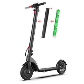 HJRD Scooter para Adultos Scooter eléctrico, Motor de Scooter 250W Altura Plegable y Ajustable Velocidad hasta 32 km/h…